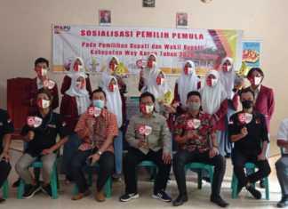 KPU Way Kanan lakukan kegiatan Sosialisasi Pemilih Pemula